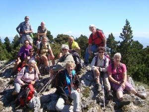 Randonnée sur les hauteurs du jura pour les membres de l'association